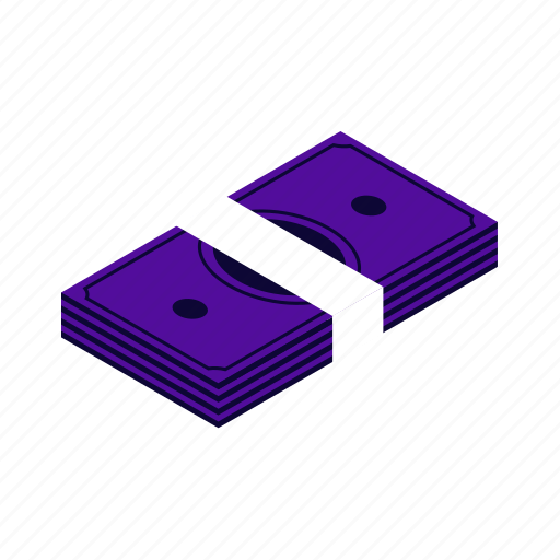 bank, cash, coin, currency, dollar, fiat, finance, financial, isometric, money, payment, shopping icon