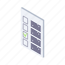 isometric, menu, options, settings icon
