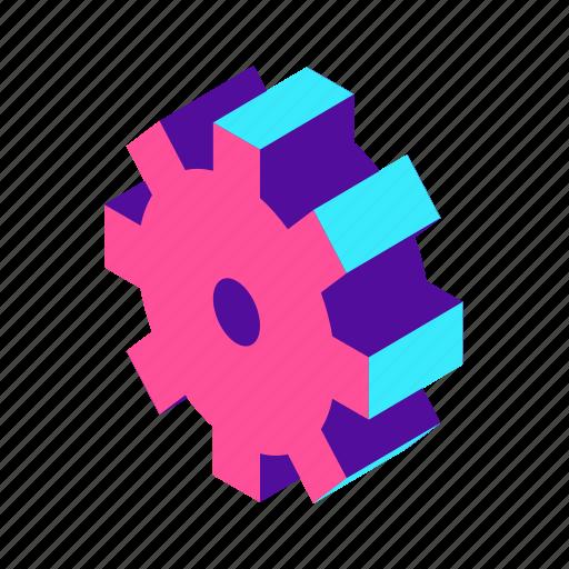 configuration, gear, isometric, optimization, option, setting icon