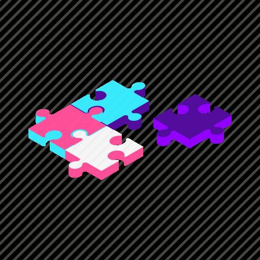 idea, isometric, marketing, planning, puzzle, seo, solution icon