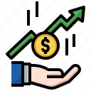 profit, money, cash, bag, dollar, finance, business