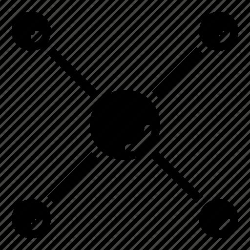 circuit, contact, design, nodes, shapes, symbols icon