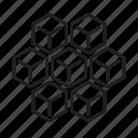 blockchain, block, chain, cube