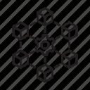blockchain, block, chain, cube, technology, setting