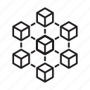 blockchain, block, chain, cube, structure