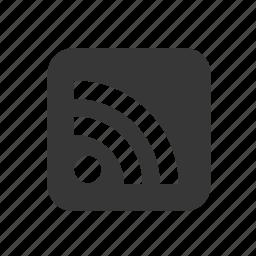 blog, raw, rss feed, simple, social media, social network, weblog, wireless icon