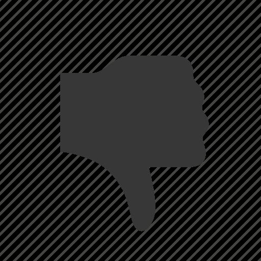 dislike, raw, simple, social media, social network, thumbs down, weblog icon