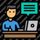 blogger, content, copywriter, influencer, writer icon