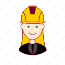 .svg, blonde woman professions, emprego, engenheira, engineer, job, mulher, professions, ruiva, trabalho, work icon