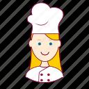 .svg, blonde woman professions, chef, chefe de cozinha, emprego, job, mulher, professions, trabalho, work icon