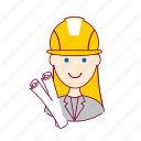 .svg, architect, arquiteta, blonde woman professions, emprego, job, mulher, professions, project, projeto, trabalho, work icon
