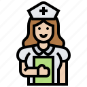 assistant, care, hospital, medical, nurse icon