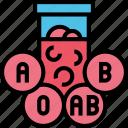 blood, antigen, group, type, hematology icon