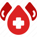 medical, blood, drop, water