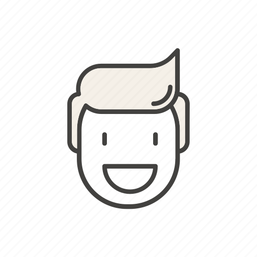 Blood, donation, donor, happy, line, man, volunteer icon - Download on Iconfinder