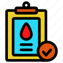 analysis, blood, health, laboratory, medical, medicine, science icon