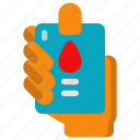 analysis, blood, health, laboratory, medical, medicine, science icon