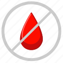 blood, cancel, censor, drop, medicine icon