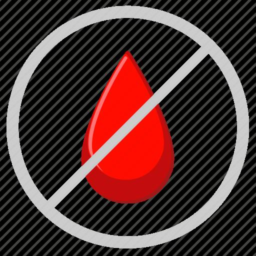 blood, cancel, censor, drop, medicine icon