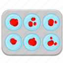 blood, drops, medicine, results, testing icon