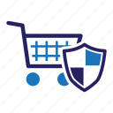 ecommerce, secure, shopping, shopping cart icon