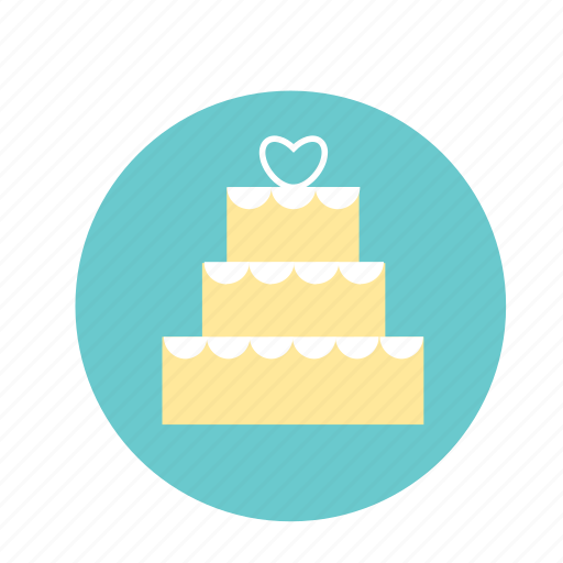 blue, cake, engagement, heart, wedding, yellow icon