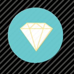 blue, diamond, engagement, jewel, wedding, yellow icon