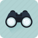binoculos, find, look, observe, search, start search icon