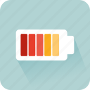 battery, battery status, full, industry, interface, low battery icon
