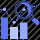 diagram, stock, analytics, valuation icon