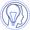 creative, business, idea, head