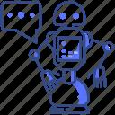 communication, robot, intelligence icon