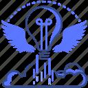 startup, idea, accelerator icon