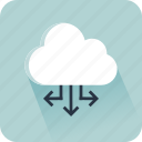 cloud, connector, data, interface, share, social media, storage icon