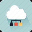 cloud computer, data, interface, multimedia, multimedia option, network, storage icon
