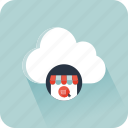cloud, ecommerce, marketing, online shop, online shopping, website icon