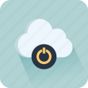 cloud, data, file, interface, online, play, storage icon