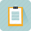 business, checking, clipboard, list, office, paper, tasks icon