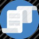 analitycs, data analytics, description, paper, presentation, text icon