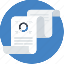analitycs, analysis, chart, data analytics, pie graphic, presentation, text icon