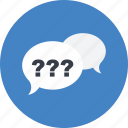 chat, communication, conversation, multimedia, question, speech bubble icon