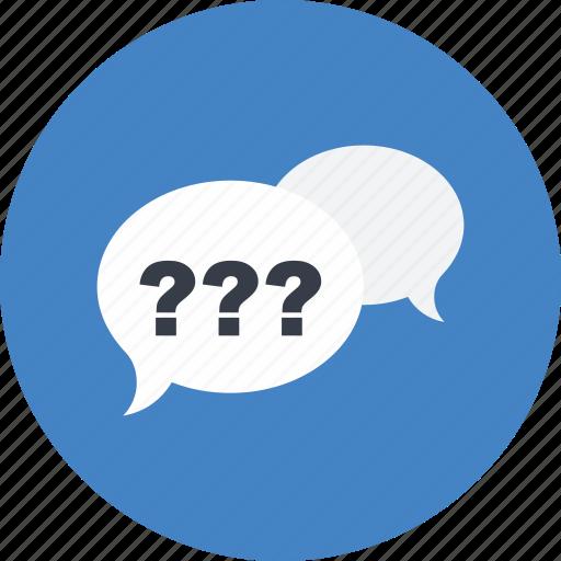 chat, communication, conversation, multimedia, question, speech bubble icon