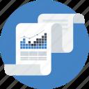 analitycs, chart, data analitycs, paper, pie graphic, presentation icon