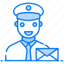 letter carrier, mail carrier, mailman, postman, professional person