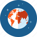 communication, flat design, globe, hosting, internet, network icon