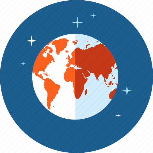 communication, flat design, globe, hosting, internet, network icon