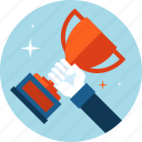 award, business, flat design, sport, success, win icon