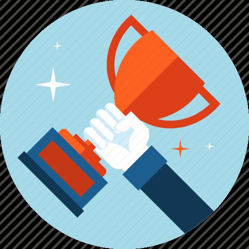 award, business, flat design, sport, success, win icon