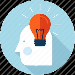 brainstorming, creativity, flat design, idea, innovation, people icon