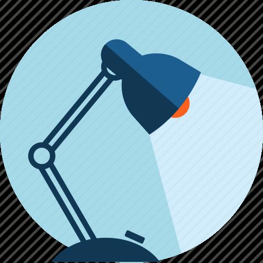 creative, design, flat design, lamp, office icon
